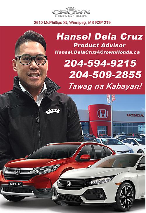 Crown Honda Mcphillips >> Crown Honda Hansel Dela Cruz Asian Community Guide